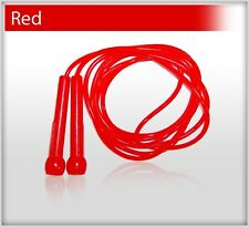 Plastic Skipping Rope PVC Speed Jump Rope Fitness Exercise Workout Jumping Red