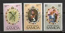 SAMOA 1981 ROYAL WEDDING SET OF ALL 3 COMMEMORATIVE STAMPS MNH