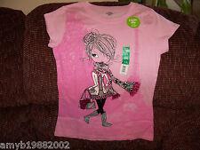 Faded Glory Shop till you drop Pink Shirt Size 14/16 Girls New