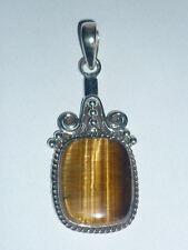 cristalloterapia PENDENTE ARGENTO 925 OCCHIO DI TIGRE pietra naturale gioiello 1