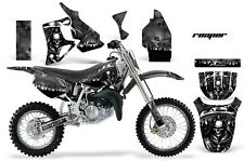 Graphics Kit MX Decal Wrap + # Plates For Honda CR80 CR 80 1996-2002 REAPER BLK