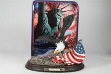 'On Freedoms Wing' Plaque With Eagle The Bradford Exchange LE NEW!