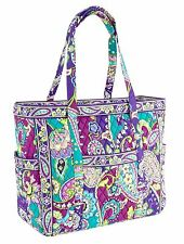 Vera Bradley Heather XL Weekend Zip Tote Bag Get Carried Away Paisley Floral NWT