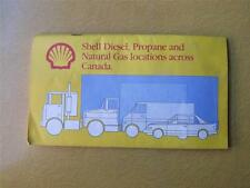 SHELL CANADA 1984 DIESEL PROPANE NATURAL GAS LOCATIONS SERVICE STATIONS