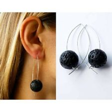 Ohrringe, Silberohrringe, SILBER 925, Lavastein, earrings, NEU - Handarbeit