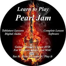 Pearl Jam Guitar TABS Lesson CD 188 Songs + Backing Tracks + BONUS