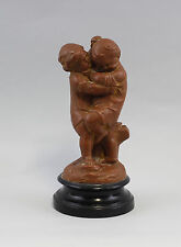 Skulptur Gips zwei raufende Knaben Kinder 99838036