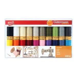 Gutermann Sewing Thread Set | 20 Spools | Natural Cotton 100m