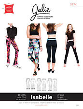 Jalie 3674 Isabelle Leggings & Skating Pants Sewing Pattern Women Girls 3 Views