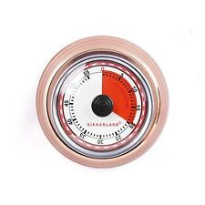 Kikkerland Copper Magnetic 60 Minute Mechanical Kitchen Timer