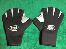 H2ODESSY Max Webbed Surf Gloves Size L Large Black and Gray