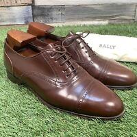 UK6.5 BALLY Brown Leather Brogue Oxford Dress Shoes - Handmade In England EU40.5