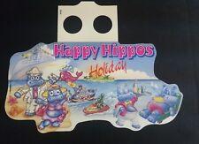 """Original Palettenanhänger """"Happy Hippos Holiday"""" AU 1996 EU / Welt"""