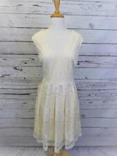 Liz Clairborne Size 12 Ivory Natural Lace Dress NWT Orig $86 Skater