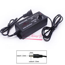 Adjustable Power Adapter Supply Display 3-24V 2A Speed Control Volt For US plug