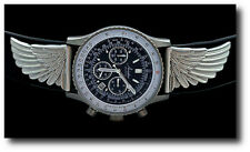 "New Aviator Unlimited ""Ventura""  Men's Pilot Chronograph Watch w/ Winged Accents"