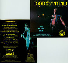 TOOTS AND THE MAYTALS  an hour live