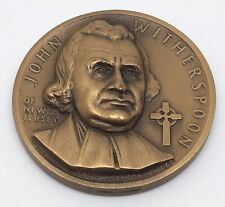 1965 MEDALLIC ART CO. JOHN WITHERSPOON OF NEW JERSEY BRONZE MEDAL