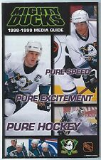 1998-99 Anaheim Mighty Ducks NHL Hockey Media Guide Paul Kariya Teemu Selanne