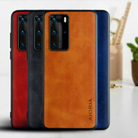 Case for Huawei P40 P30 Pro Lite E Plus Luxury Vintage leather case Skin cover