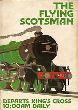 """Reproduction Vintage Railway Poster, """" The Flying Scotsman"""", Home Wall Art"""