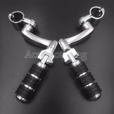 1'' Highway Foot Pegs Mount Clamps For Harley Touring Sportster XL Softail Dyna