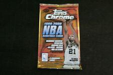 1999-00 Topps Chrome Basketball Sealed Pack 4 Cards Tim Duncan San Antonio Spurs