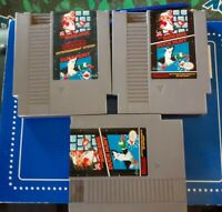 LOT OF 3 Super Mario Bros. Duck Hunt Nintendo NES Vintage game cartridges only