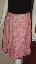 JONES NEW YORK SIGNATURE SILK A-LINE SKIRT SZ 10 TIERED WITH BOTTOM RUFFLE K124