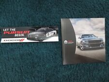 2018 17 DODGE CHARGER ACCESSORIES BROCHURE AND POLICE PURSUIT STICKER DECAL