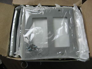 Box of 21 New Surplus Leviton Decora 80409-GY Gray 2 Gang  Cover Plates