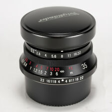 Voigtlander Color Skopar 35mm f/2.5 Black MC Lens For Leica L << Excellent >>