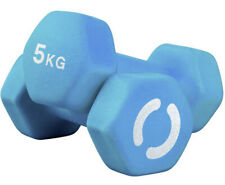 10kg (2x 5kg) Hex Dumbbell Pair Hexagonal Neoprene Dumbbells IN STOCK NOW NEW 20