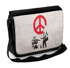 Banksy CND Soldiers Laptop Messenger Bag
