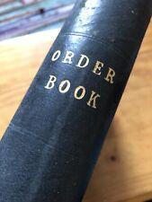 Antique Ledger 1949 Steel Order Book Stage Film Play Prop Hand-Written Vintage
