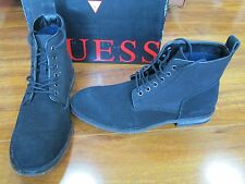 NEW GUESS Eamon Lace Up Boots Shoes MENS Size 8 Black $140.