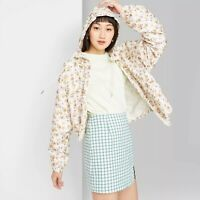 Women's Floral Print Zip-Up Windbreaker Jacket - Wild Fable™ Ivory