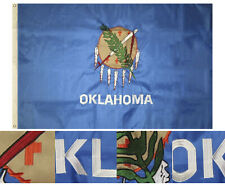 3x5 Embroidered State of Oklahoma 220D Nylon Flag 3'x5' w/ 2 clips