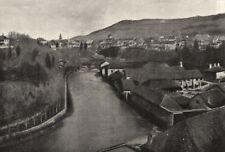 JURA. Champagnole. L'Ain Forges 1895 old antique vintage print picture