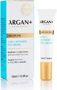 ARGAN+ 5 Oil Blend, 5-in-1 Wonder Eye Delicate Cream Lift & Hydrate effect 15ml