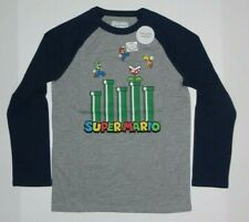 Nintendo Game Super Mario Game Long Sleeve Boys Tee Shirt New