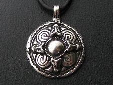 Wikinger Schild Anhänger Silber 925 er massiv Keltisch Wikinger Waffen / KA 057