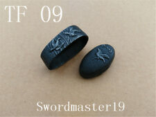 1 Set Black Cast Iron Flying Birds Fuchi Kashira Japanese Katana Wakizashi Tanto