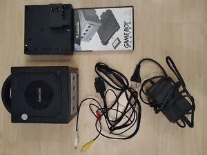 GameCube Konsole mit Gamecube Gameboy player (CD und Adapter)