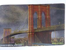 New Yoek, Brooklyn Bridge, von 22.12.1909 sehr gur leserlich, Rarität !