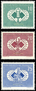 EBS East Germany DDR 1960 Chess Olympics Leipzig Michel 786-788 MNH**