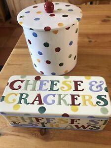 Emma Bridgewater Polka Dot Biscuit Tin and Cracker Tin