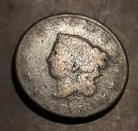 1818  US Coronet Head Large Cent Coin.