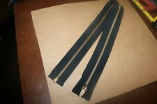 NOS vintage brass Talon USA made 25.5 inch separating jacket zipper black cloth