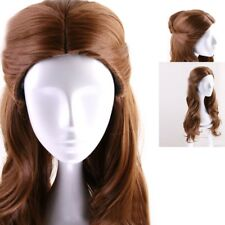 Brown Curly Synthetic Cosplay Wig For Movie Beauty And The Beast Belle Princess